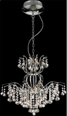 Chandeliers, Chrome/crystals, Type Jc/g4 20wx12