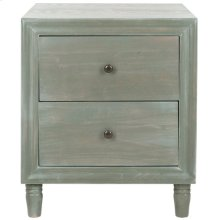 Blaise Accent Stand With Storage Drawers - French Grey
