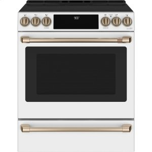 "GE30"" Smart Slide-In, Front-Control, Induction and Convection Range with Warming Drawer"