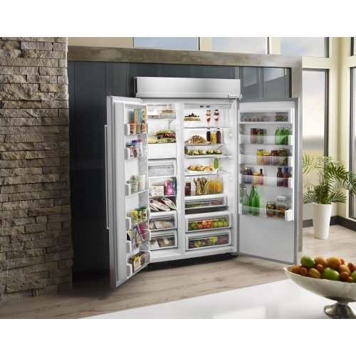 30.0 cu. ft 48-Inch Width Built-In Side by Side Refrigerator with PrintShield Finish - Stainless Steel with PrintShield™ Finish