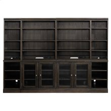 "Tobacco Commonwealth 96"" Credenza with Hutch"