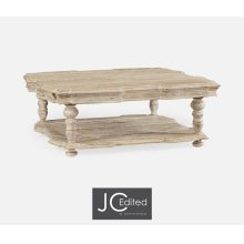 Square Limed Acacia Coffee Table