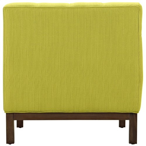 Panache Upholstered Fabric Armchair in Wheatgrass