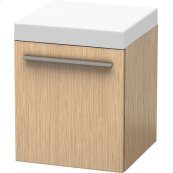 Mobile Storage Unit, Brushed Oak (real Wood Veneer)