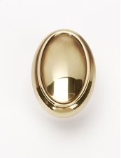 Classic Traditional Oval Knob A1560 - Polished Antique