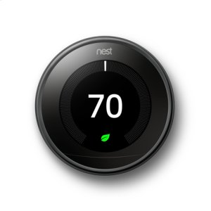 Nest Learning Thermostat - 3rd generation, Mirror Black: 2 pack