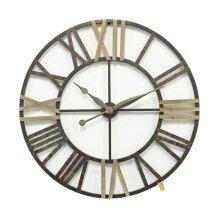 Roman Numeral Metal Wall Clock