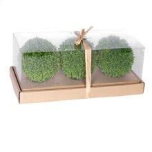 58203  S/3 Boxwood Decorative Spheres