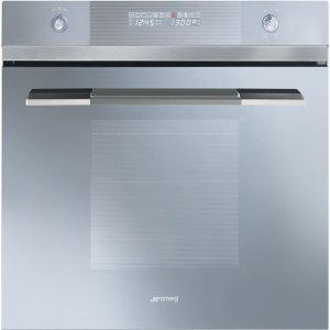 "Smeg60CM (Approx. 24"") Linea Design Multifunction Silver Glass Oven"
