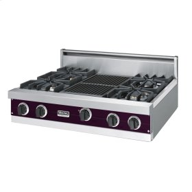 "Plum 36"" Sealed Burner Rangetop - VGRT (36"" wide, four burners 12"" wide char-grill)"