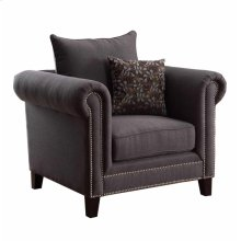 Emerson Transitional Charcoal Chair