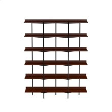 Shelving System 5306 in Chocolate Stained Walnut Black