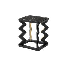 Oscillate Accent Table - Ebonised & Gilt