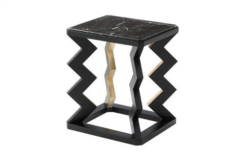 Oscillate Accent Table - Ebonised & Gilt