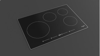 "30"" Induction Cooktop With Brushed Aluminum Trim - Black Glass"