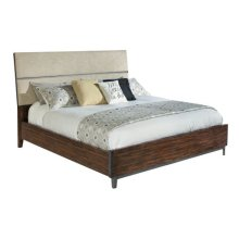 Monterey Point King Upholstered Planked Panel Bed