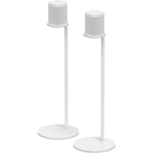 White- Place your home cinema surrounds in this pair of stands, designed and made by Sonos.