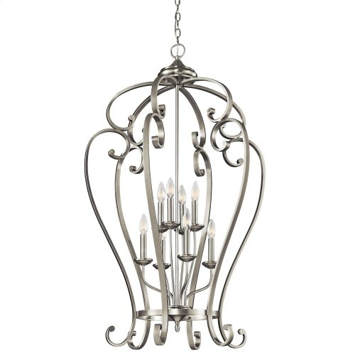 Monroe Collection Monroe 8 Light Foyer Cage Pendant - Brushed Nickel