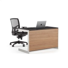 Compact Desk Back Panel 6008 in Natural Walnut