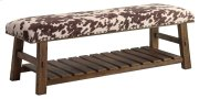 Mesquite Faux Cowhide Bench Product Image