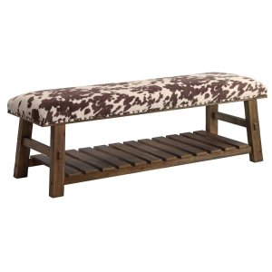 CRESTVIEW COLLECTIONSMesquite Faux Cowhide Bench