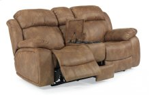 Como Fabric Power Reclining Loveseat with Console