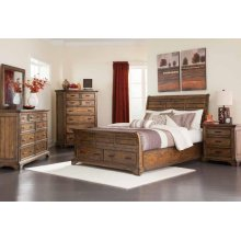 Elk Grove Rustic Vintage Bourbon California Bed