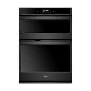 Whirlpool(R) 6.4 cu. ft. Smart Combination Wall Oven with Touchscreen - Black - BLACK