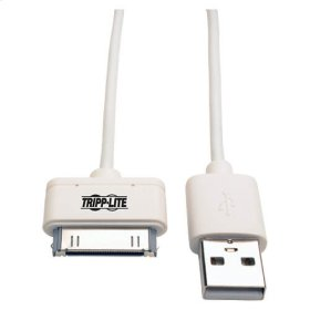 USB Sync/Charge Cable with Apple 30-Pin Dock Connector, White, 3 ft. (1 m)