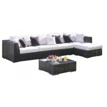 Atlantis 6 PC Sectional Set Deep Seating Group