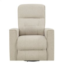 Emerald Home U7158-04-09 Landon Swivel Reclining Glider, Ecru