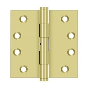 """4""""x 4"""" Square Hinges - Polished Brass"""