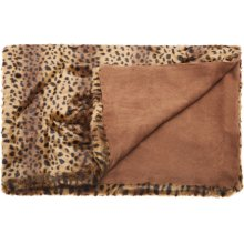 """Fur N9371 Brown 50"""" X 70"""" Throw Blanket"""