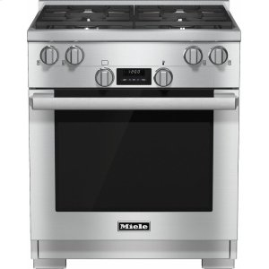 MieleHR 1124 G 30 inch range All Gas with DirectSelect, Twin convection fans and M Pro dual stacked burners