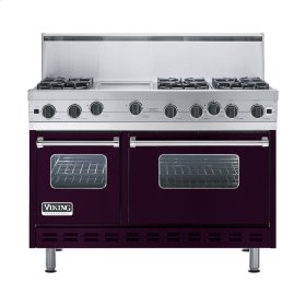 "Plum 48"" Open Burner Range - VGIC (48"" wide, six burners 12"" wide griddle/simmer plate)"