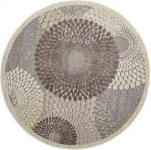 Graphic Illusions Gil04 Gry Round Rug 5'3'' X 5'3''