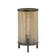 Table lamp 17x31 cm TJIBE glass gold luster+antique bronz