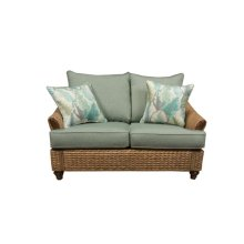 Loveseat, Available in Antique Palm Finish Only.