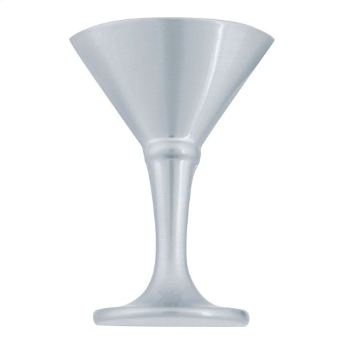 Martini Glass Knob 2 Inch - Brushed Nickel