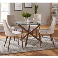 Rocca/Cora 5pc Dining Set, Beige