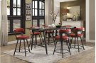 Swivel Counter Height Chair, Red Product Image