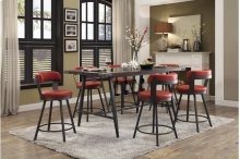 Swivel Pub Height Chair, Red