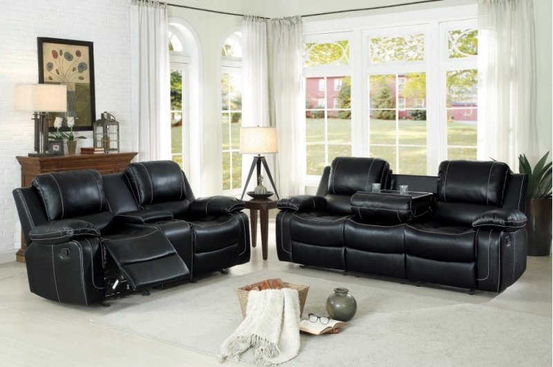 8334blk3 In By Homelegance In Naperville Il Double Reclining Sofa