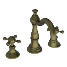 Antique Brass Widespread Lavatory Faucet