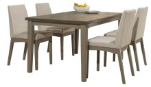 Clarion 5-piece Rectangle Dining Set With Upholstered Chairs - Distressed Gray