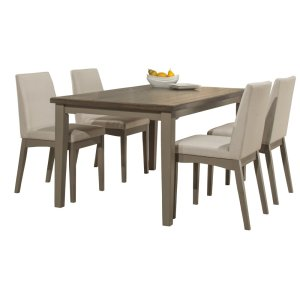 Hillsdale FurnitureClarion 5-piece Rectangle Dining Set With Upholstered Chairs - Distressed Gray