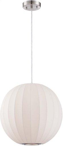 Pendant Lamp, White Polyresin Foam Shade, E27 Type A 100w