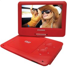 """9"""" Portable DVD Player with 5-Hour Battery (Red)"""