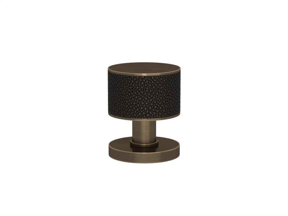 Stacked Shagreen Recess Amalfine In Black Bronze And Fine Antique Brass