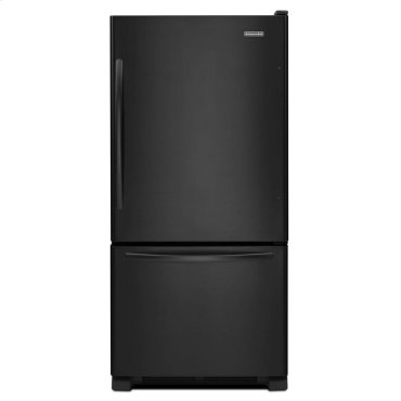 22 Cu. Ft. Standard-Depth Bottom-Freezer Refrigerator, Architect® Series II - Black